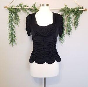 Nanette Lepore Black Silk Blouse Size 8